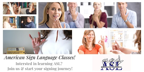 American Sign Language (ASL) 101 Virtual Classes (Aug 20 - Oct 22, 2020) tickets