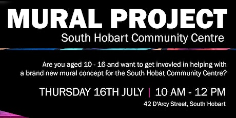 South Hobart Community Centre Mural Design Workshop: Ages 10 - 16 tickets