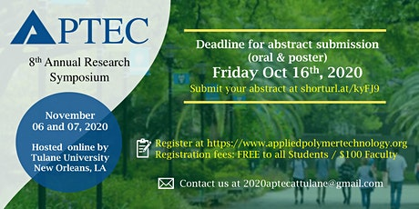 2020 APTEC Annual Research  Symposium Registration tickets