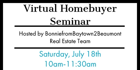 Virtual HomeBuyer Seminar.. Become a Homeowner in 2020 tickets