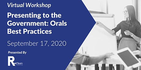 Presenting to the Government: Orals Best Practices tickets