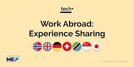UW Working Abroad: Experience Sharing tickets