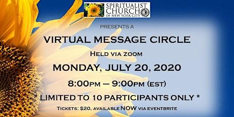 July 20, 2020  SCNYC Virtual Message Circle Tickets