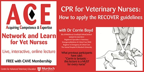 CPR for Veterinary Nurses: How to apply the RECOVER guidelines tickets