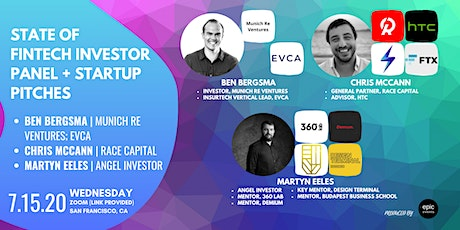 State of Fintech Investor Panel + Startup Pitches (On Zoom) tickets