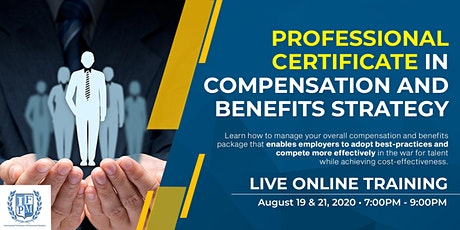 Professional Certificate in Compensation and Benefits Strategy tickets