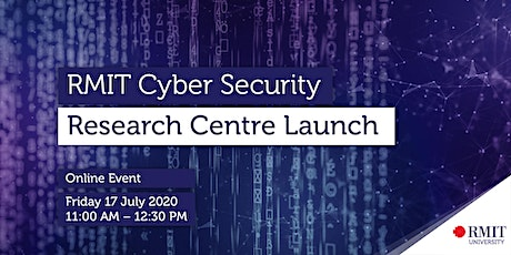RMIT Cyber Security Research Centre Launch biglietti