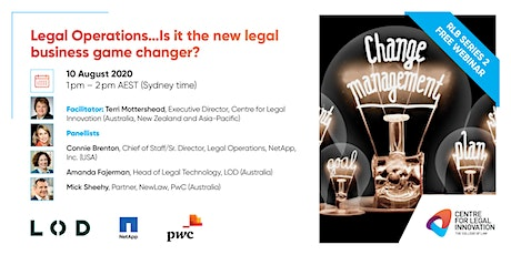 RLB: Legal Operations...Is it the new legal business game changer? tickets