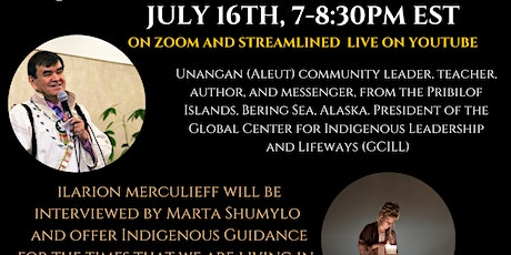 Webinar: Indigenous Guidance to Support Us  with Kuuyux Ilarion Merculieff tickets