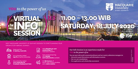 Macquarie University Virtual Info Session tickets