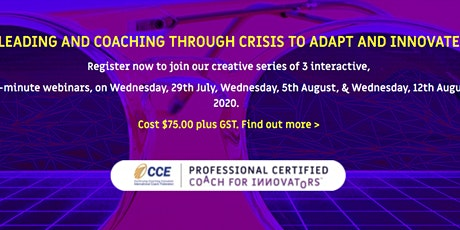 Coaching through crises to adapt and innovate online learning series tickets