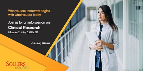 Free Info Session on Clinical Research Career & Internship Opportunities tickets