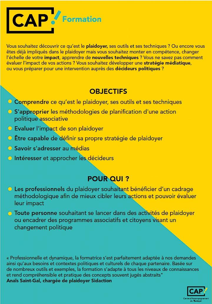 Image pour Formation : Stratégies et outils du Plaidoyer