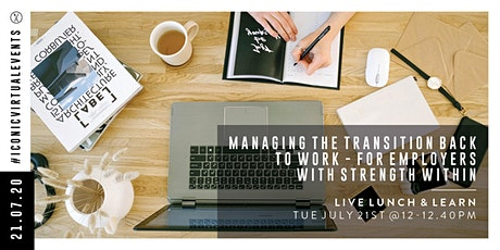 Managing the transition back to work - For Employers tickets