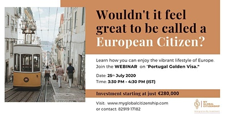Free Webinar - European Citizenship & Portugal Golden VISA Program bilhetes