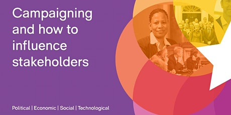 CBI Online Workshop - Campaigning and how to influence stakeholders tickets