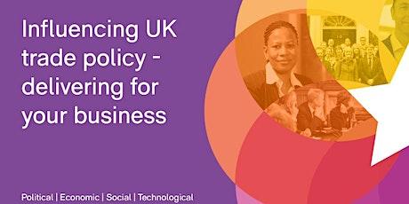 CBI Online Workshop - Influencing UK trade policy, delivering for business tickets