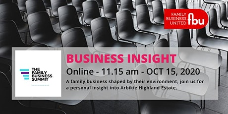 Family Business Insight - Arbikie Highland Estate tickets