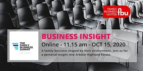 Family Business Insight - Arbikie Highland Estate tickets