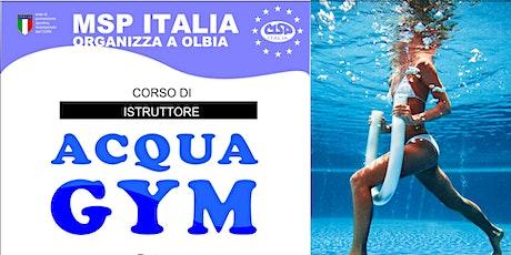 CORSO MSP ITALIA DI ISTRUTTORE ACQUA GYM- OLBIA