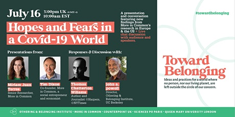 Toward Belonging Digital Dialogue 2: Hopes and Fears in a COVID world tickets