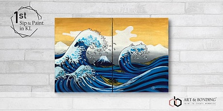 Sip & Paint Date Night : The Great Wave Off Kanagawa by Hokusai tickets