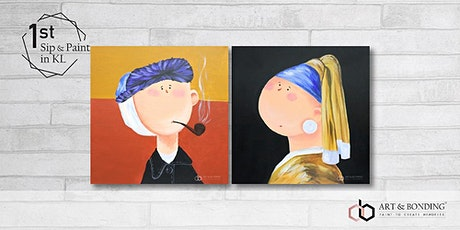 Sip & Paint Date Night : Cute Little Van Gogh & Girl With Pearl Earring tickets