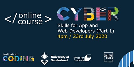 Copy of Cyber Skills for App and Web Developers tickets