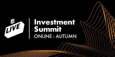 GamesIndustry.biz Live: Investment Summit Online (Autumn) tickets