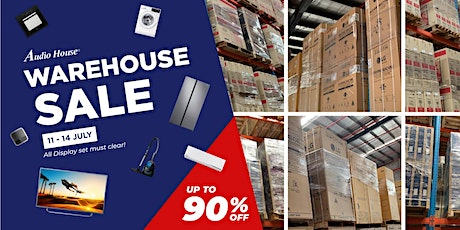 Audio House Warehouse Sale] Up to 90% For Over 3,500 Electronics tickets