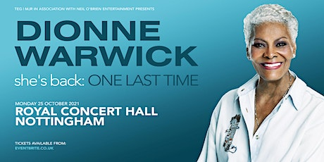Dionne Warwick (Royal Concert Hall, Nottingham) tickets
