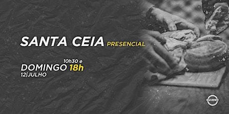 CULTO DOMINGO DIA 12/07/2020 ingressos