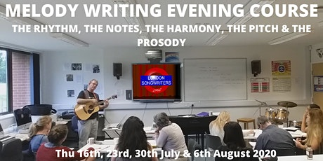 Melody, Harmony & Hook Writing 4 Week Evening Course tickets