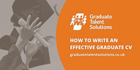 Webinar: How To Write An Effective Graduate CV tickets