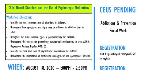 Child Mental Disorders and the Use of Psychotropic Medications tickets