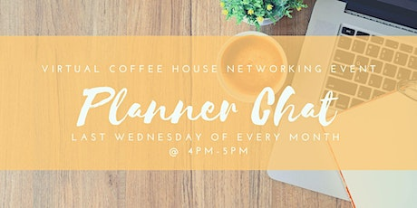 Planner Chat- Virtual Coffee House Networking Event tickets