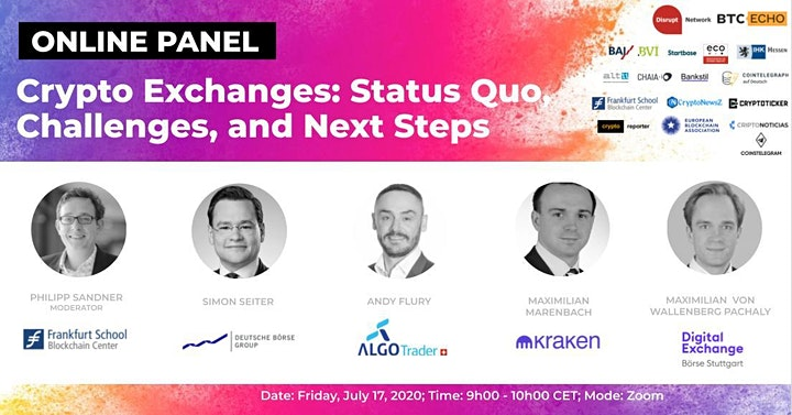 Crypto Exchanges: Status Quo, Challenges and Next Steps (Online Panel) image