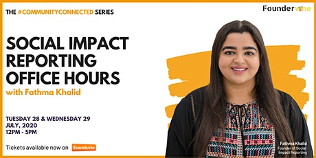 #CommunityConnected: Social Impact Reporting Office Hours tickets