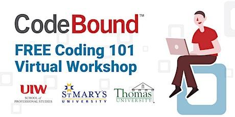 SATX- Coding 101 Virtual Workshop tickets