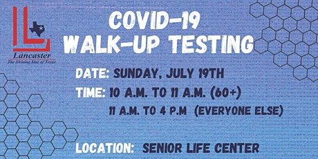 COVID-19 WALK-UP TESTING IN LANCASTER tickets