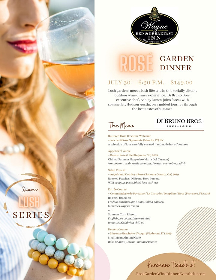 Rose' Garden Dinner with Di Bruno Bros image
