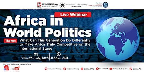 AFRICA IN WORLDS POLITICS tickets