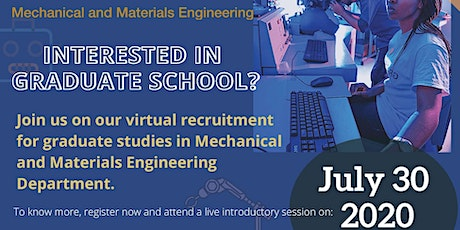 Mechanical and Materials Engineering Graduate Info Session tickets