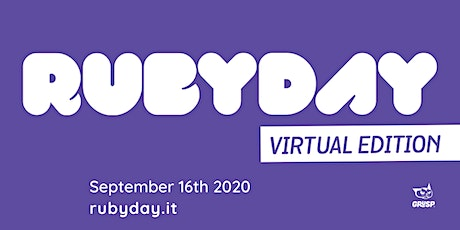 rubyday 2020 - Virtual Edition tickets
