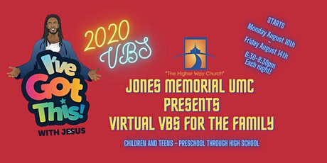 VBS for the Family 2020 -  hosted by Jones Memorial UMC tickets