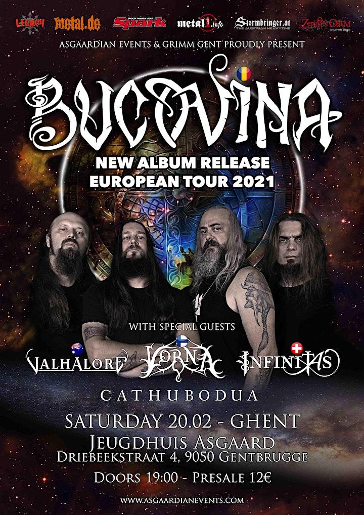 Afbeelding van Bucovina European Tour 2022 (/w : Vorna, Infinitas, Aether & Cathubodua)