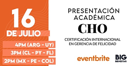 Presentación Académica - CHO Américas 15° Edición - Online Live entradas