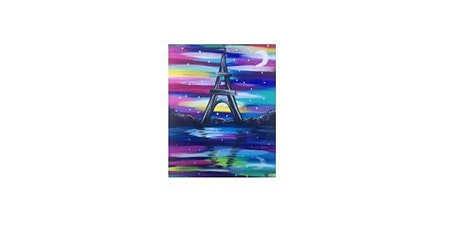 Colorful Eiffel Tower | Adult Paint n' Sip | $25-$30 tickets