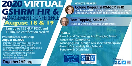 Greenville SHRM VIRTUAL  HR & Management Conference tickets