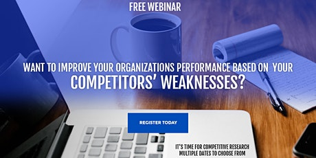 "The Complete Competitive Research for Your Business ""Workshop"" tickets"